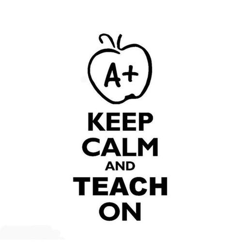 Keep Calm Teach On 659 Vinyl Sticker