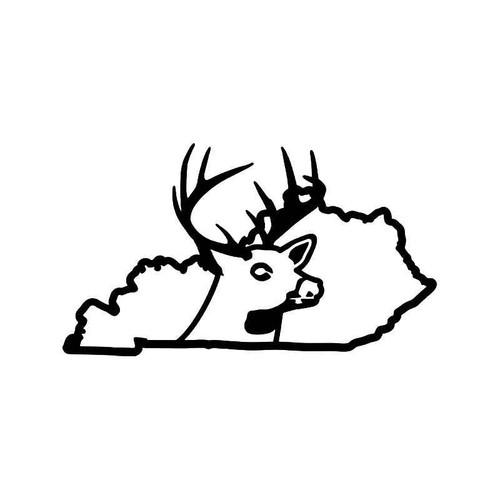 Kentucky State Deer Buck Hunting Vinyl Sticker