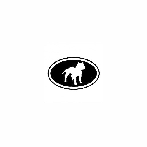 Pit Bull Cut Out Oval Decal (02) Size option will determine the size from the longest side Industry standard high performance calendared vinyl film Cut from Oracle 651 2.5 mil Outdoor durability is 7 years Glossy surface finish