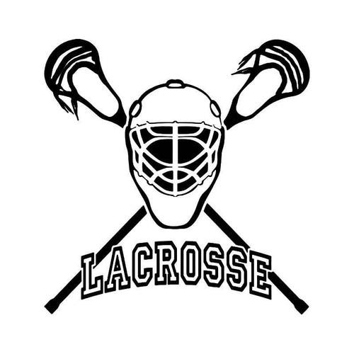 Lacrosse Vinyl Sticker