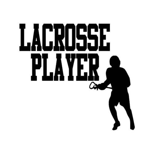 Lacrosse Player Vinyl Sticker