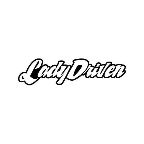Lady Driven Jdm Japanese Vinyl Sticker