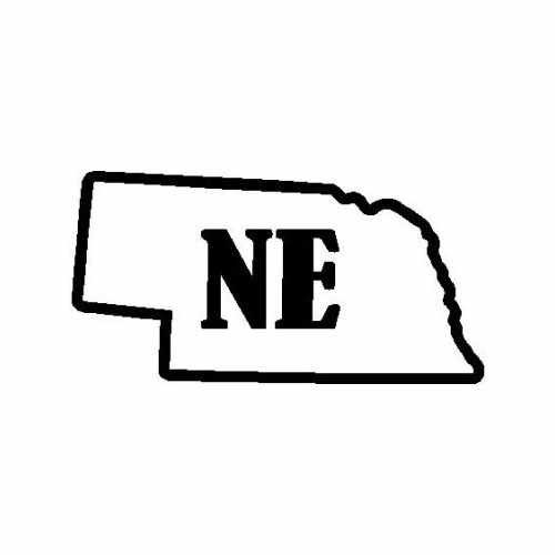 States Nebraska  Vinyl Decal Sticker  Size option will determine the size from the longest side Industry standard high performance calendared vinyl film Cut from Oracle 651 2.5 mil Outdoor durability is 7 years Glossy surface finish