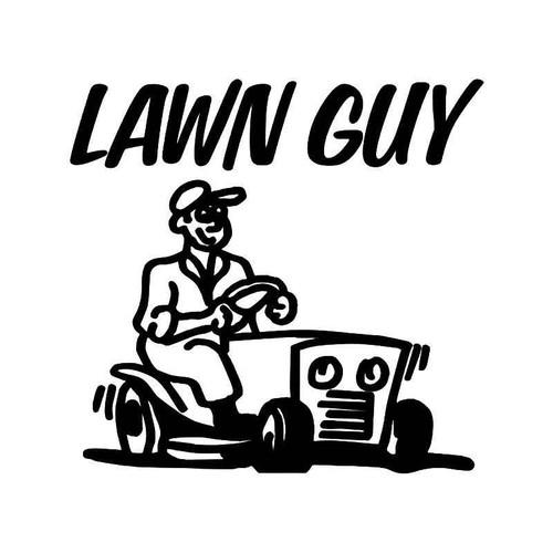 Lawn Guy Vinyl Sticker