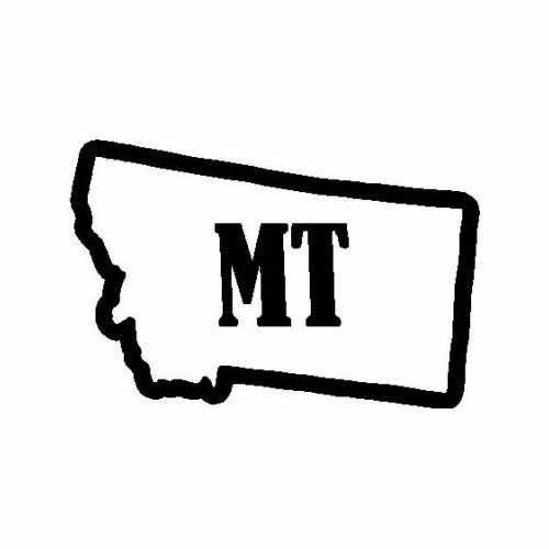 States Montana  Vinyl Decal Sticker  Size option will determine the size from the longest side Industry standard high performance calendared vinyl film Cut from Oracle 651 2.5 mil Outdoor durability is 7 years Glossy surface finish