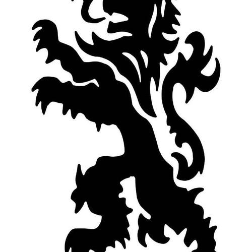 Lion Crest 2 Vinyl Sticker
