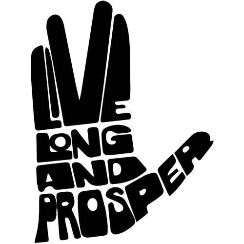 Live Long Prosper Spock Star Trek Vinyl Sticker