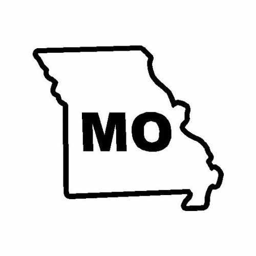 States Missouri  Vinyl Decal Sticker  Size option will determine the size from the longest side Industry standard high performance calendared vinyl film Cut from Oracle 651 2.5 mil Outdoor durability is 7 years Glossy surface finish
