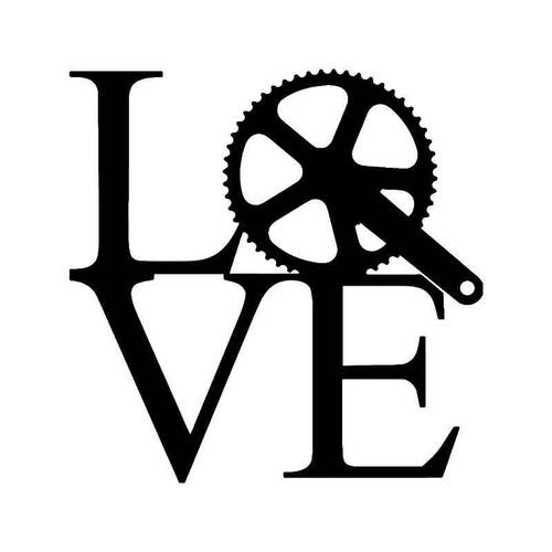 Love Cycling Bicycling Vinyl Sticker