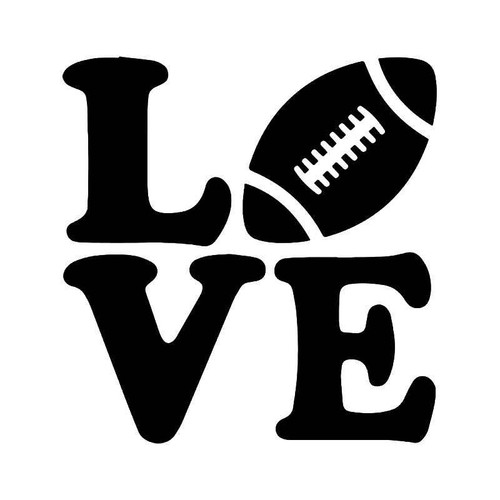 Love Football Vinyl Sticker