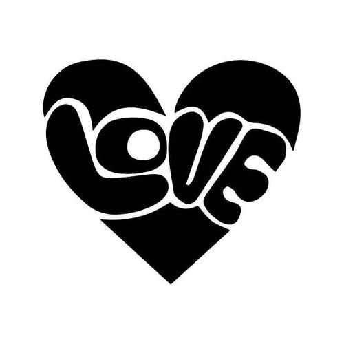 Love He Vinyl Sticker