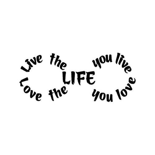 Love Life Forever Vinyl Sticker