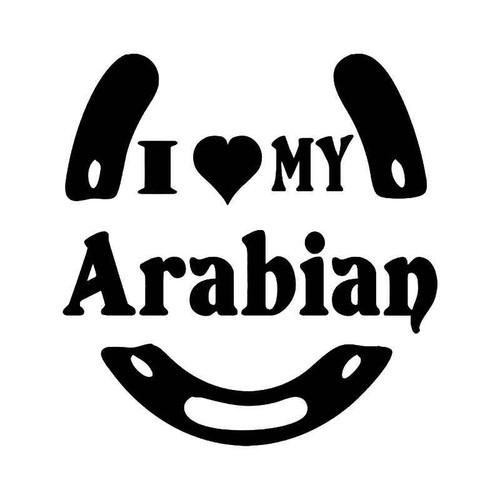 Love My Arabian Horse Vinyl Sticker