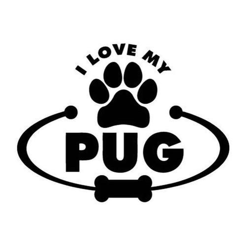 Love My Pug 2022 Vinyl Sticker
