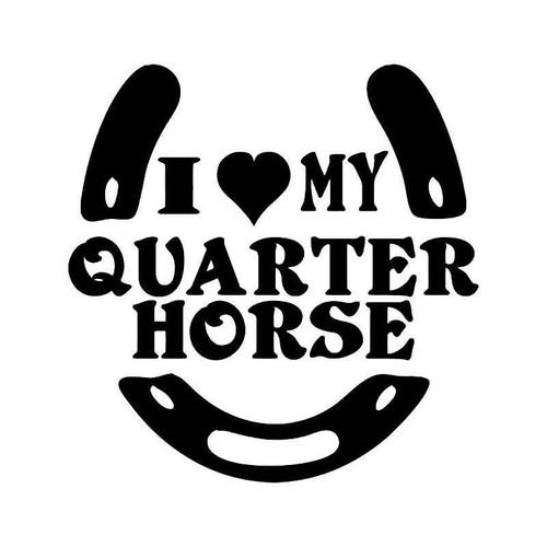 Love My Quer Horse Vinyl Sticker