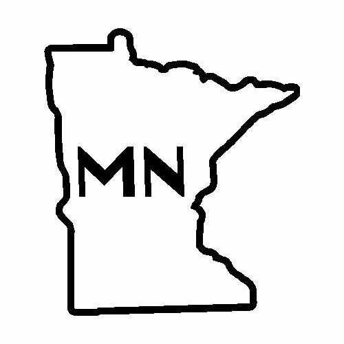 States Minnesota  Vinyl Decal Sticker  Size option will determine the size from the longest side Industry standard high performance calendared vinyl film Cut from Oracle 651 2.5 mil Outdoor durability is 7 years Glossy surface finish
