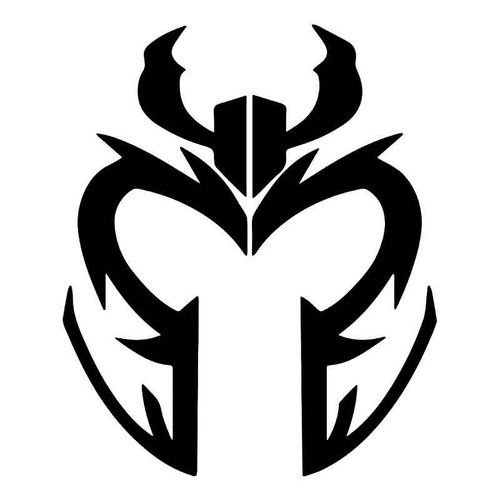 Magneto Helmet X Men Vinyl Sticker