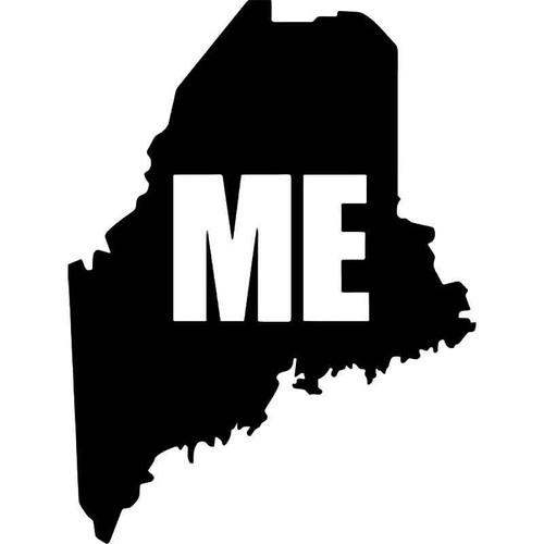 Maine State Map Vinyl Sticker