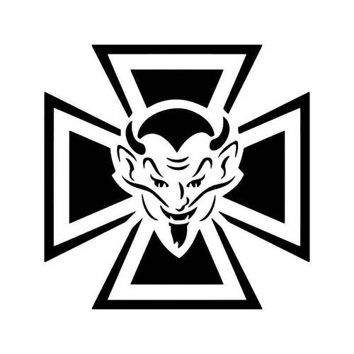 Maltese Cross Vinyl Sticker