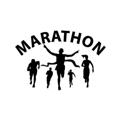 Marathon Runner Vinyl Sticker