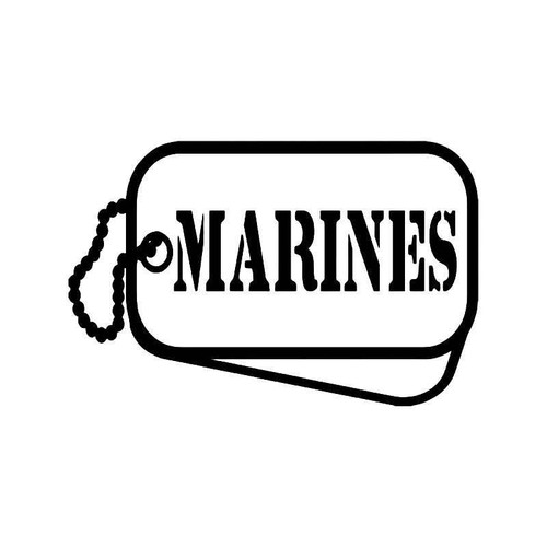 Marines Military Tags Vinyl Sticker