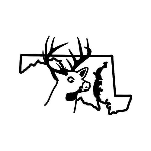 Maryland State Deer Buck Hunting Vinyl Sticker