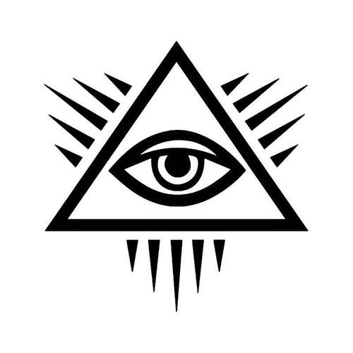 Masonic Eye Masonry Freemason Vinyl Sticker