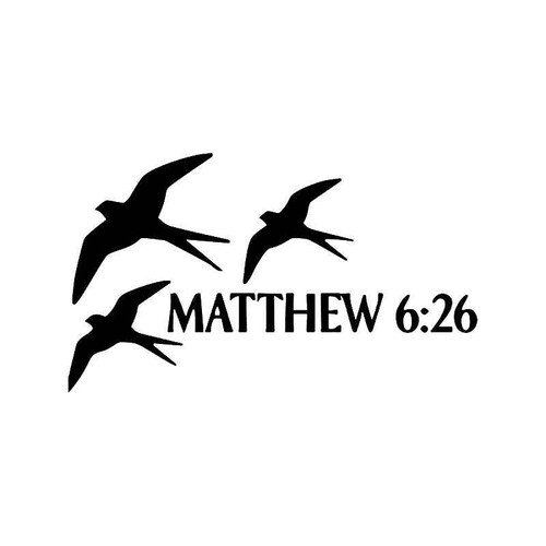 Matthew 66 Bible Vinyl Sticker