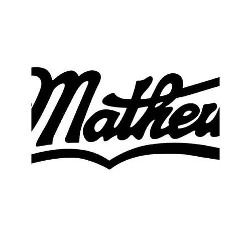 Matthews Deer Buck Antlers Hunting 2 Vinyl Sticker