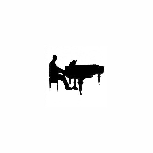 Piano Player 01 Size option will determine the size from the longest side Industry standard high performance calendared vinyl film Cut from Oracle 651 2.5 mil Outdoor durability is 7 years Glossy surface finish