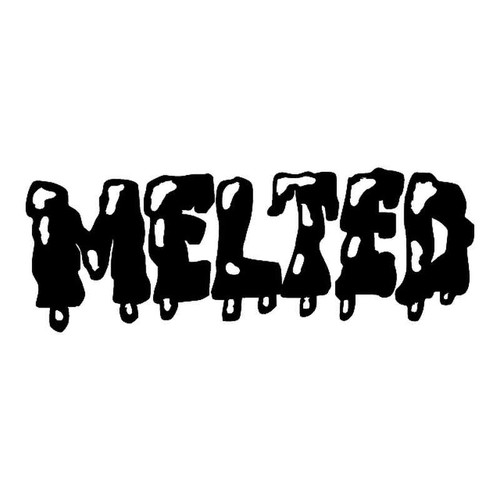 Melted Magazine Logoholes Vinyl Sticker