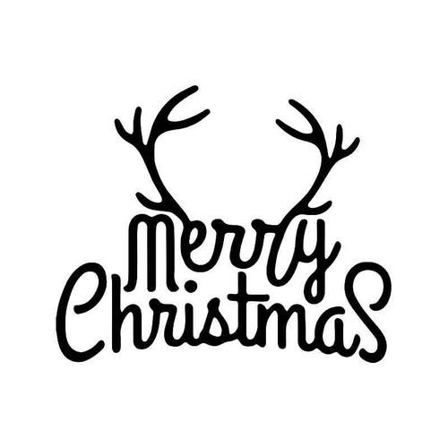 Merry Christmas Deer Hunting Vinyl Sticker