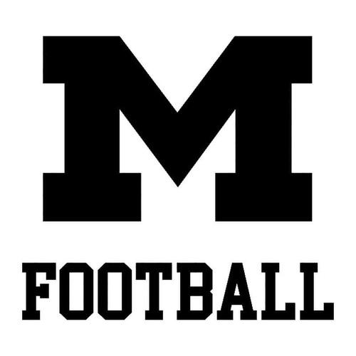 M Football Vinyl Sticker