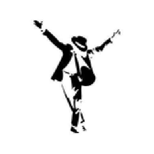 Michael Jackson (NeckTie) Vinyl Sticker