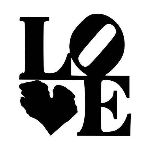 Michigan State Map Love Vinyl Sticker