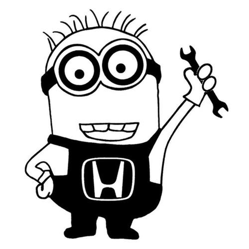 Minion Honda Wrench 148 Vinyl Sticker