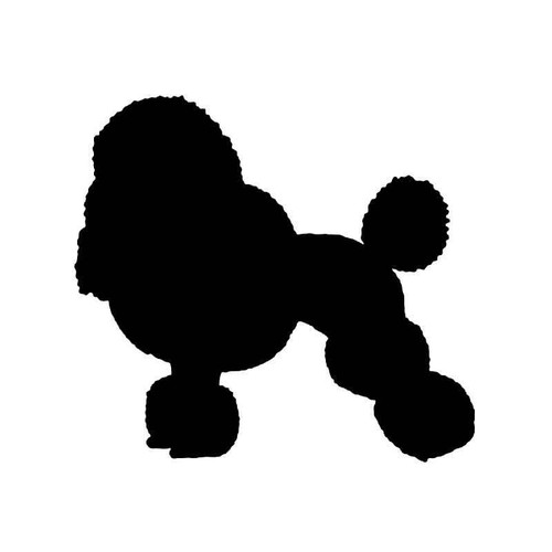 Mini Poodle Dog 2 Vinyl Sticker