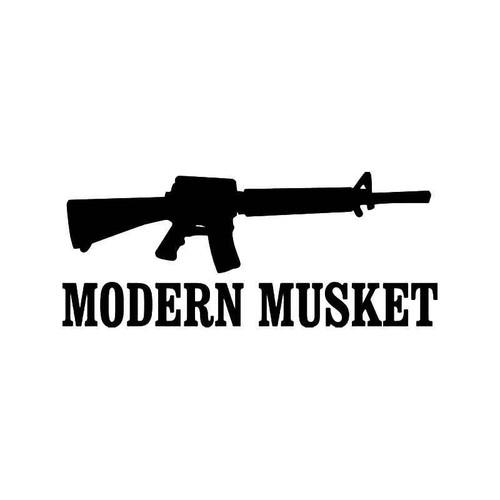 Modern Musket Rifle Vinyl Sticker