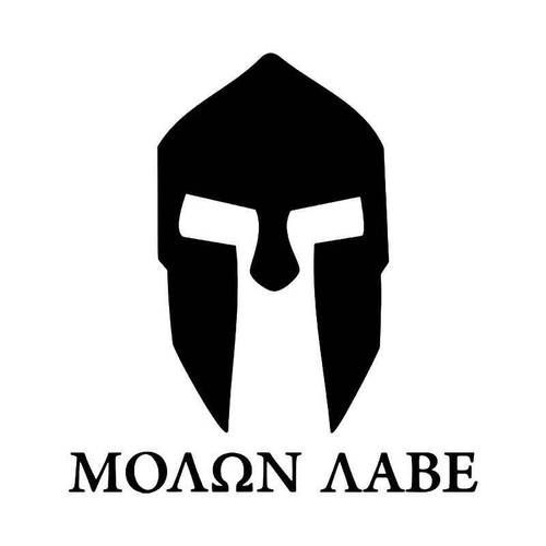 Molan Labe Span Greece Helmet Vinyl Sticker