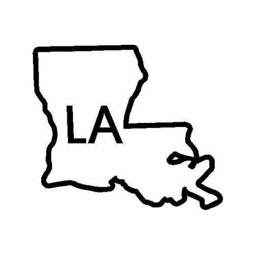 States Lousiana  Vinyl Decal Sticker  Size option will determine the size from the longest side Industry standard high performance calendared vinyl film Cut from Oracle 651 2.5 mil Outdoor durability is 7 years Glossy surface finish