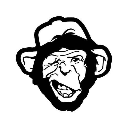 Monkey Chimp Vinyl Sticker