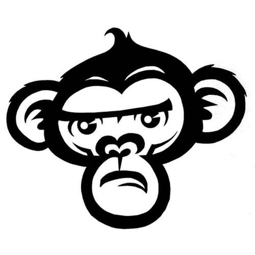 Monkey 1108 Vinyl Sticker