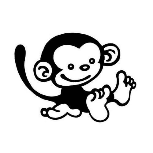 Monkey 802 Vinyl Sticker