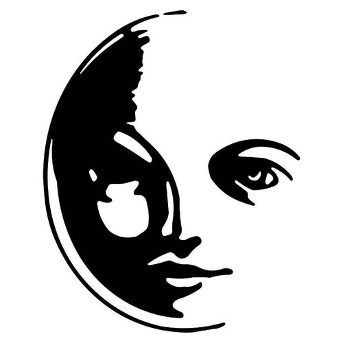Moon 1 Vinyl Sticker