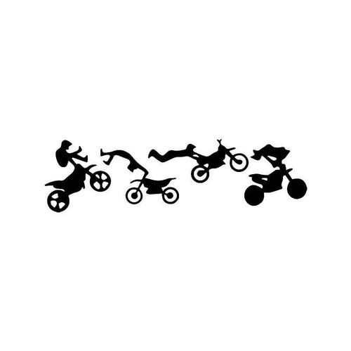 Motocross Dirt Bike Vinyl Sticker