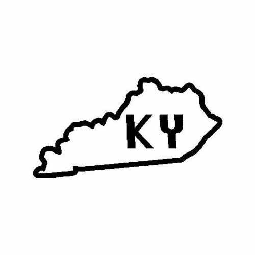 States Kentucky  Vinyl Decal Sticker  Size option will determine the size from the longest side Industry standard high performance calendared vinyl film Cut from Oracle 651 2.5 mil Outdoor durability is 7 years Glossy surface finish