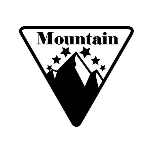 Mountain Climbing 1 Vinyl Sticker