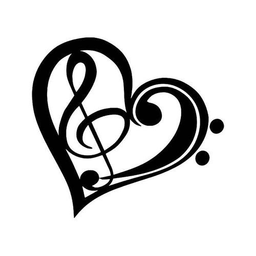 Music He Love Note 3 Vinyl Sticker