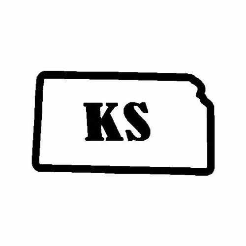 States Kansas  Vinyl Decal Sticker  Size option will determine the size from the longest side Industry standard high performance calendared vinyl film Cut from Oracle 651 2.5 mil Outdoor durability is 7 years Glossy surface finish