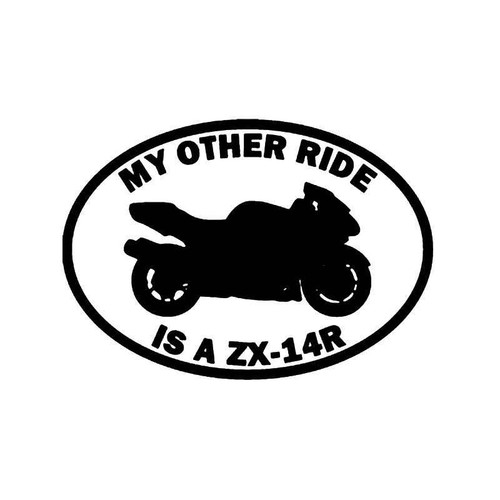 My Other Ride Kawasaki Ninja Zx 9r Motorcycle Vinyl Sticker